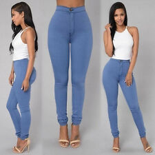 Women Pencil Stretch Denim Skinny Jeans Pants High Waist Slim Jeans Trousers 2XL