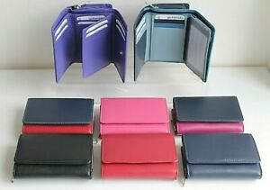 Leather Medium Tri Fold Wallet Purse by Golunski * Various colours & RFID option