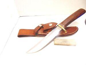 Randall Knife Hunter Model 3-6  Wood Handle Randall Roughback Sheath
