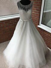 RONALD JOYCE WEDDING DRESS IVORY UK SIZE 14 (ONE ONLY)