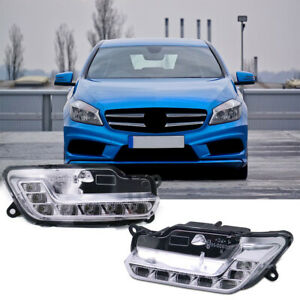 NEW 1 Pair Daytime Running Light for Mercedes-Benz W212 E300 E350 E500 E550