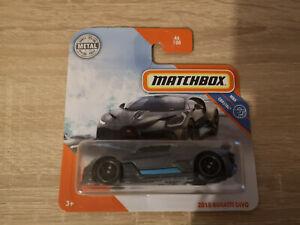 2020 Matchbox '18 Bugatti Divo - 1:64 1/64 MBX Coastal 46/100 Grey
