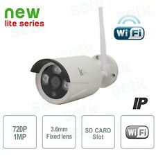 Telecamera IP Standalone 1MP 3.6mm IR Wireless con MEMORIA INTERNA e REGISTRA