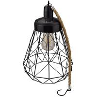 Yard Island Solar LED Edison Bulb Large Hanging Cage Lantern (Style 1)
