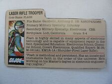 GI Joe Flash Filecard Laser Rifle Trooper 1982 1983 Nice Cond Cobra Cardback