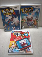 NINTENDO WII RAYMAN RAVING RABBIDS GAME LOT