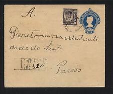 Brazil  uprated postal envelope  registered         MS1213