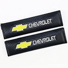 2XCarbon Fiber Leather Car Seat belt Shoulder Pads Truck Cover for Chevrolet