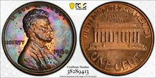 MS64RB 1960-D 1C Lincoln Memorial Cent, PCGS Secure- Psychedelic Purple Toned