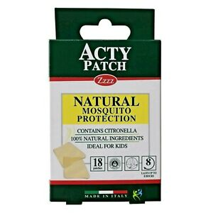 ACTY PATCH NATURAL MOSQUITO PROTECTION INSECTS BITE REPELLENT 18 PATCHES WOW