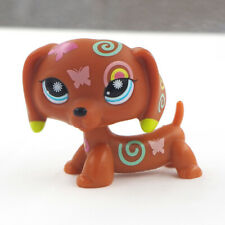 LPS Blue Eyes Dog Rare Dachshund Printing Figure #1010 Toys Littlest Pet Shop