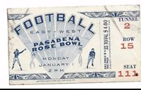 1945 Rose Bowl football ticket USC Trojans Tennessee Volunteers crease, residue