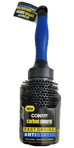 1 1/2 Inch Conair Carbon Smooth Round Brush Fast Drying Antistatic Smoothing