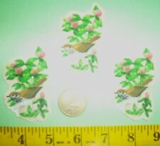 New!Cool! Vermont State Bird and Flowers IRON-ONS FABRIC APPLIQUES IRON-ON