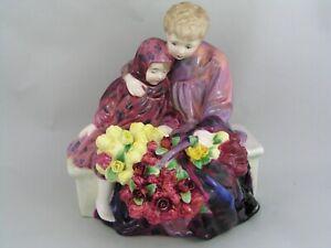"ROYAL DOULTON FLOWER SELLERS CHILDREN 8"" FIGURINE, HN 1342, EARLY BACKSTAMP."