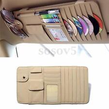 New Sun Visor 2-in-1 CD DVD Storage Holder Bag Pocket Car Accessories Beige