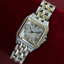 Cartier Panther Jumbo Two Rows Gold w/ Steel Large Mens Watch  - Time & Tide