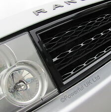 Gloss Black SUPERCHARGED style GRILLE upgrade kit Range Rover L322 2002-05 Java