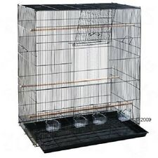 Flight Cages for Birds Big Finch Budgie Canary Food Dishes Perches Comfortable