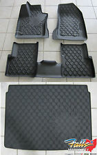 2015-17 Jeep Renegade Rubber Slush Floor Liner Mats and Cargo Tray Set Mopar OEM