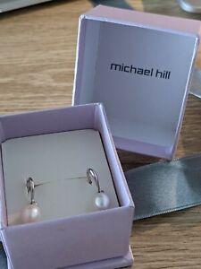 Freshwater Pearl Drop Sterling Silver Michael Hill Earrings