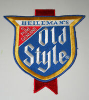 Back of Jacket Heileman's Genuine Old Style Beer Distributor Patch 1970s NOS New