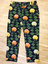 Anthropologie Nadinoo Fleur Hydrangea Crop Pants 6