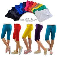 New Women Colorful Jeggings Stretchy Sexy Pants Soft Leggings Capri Shorts