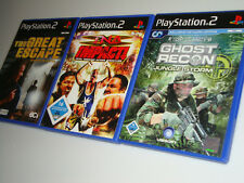 Playstation 2 ps2 collection tna impact * Great Escape * tom clancy's ghost recon