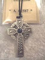 Keltisches Amulett Hochkreuz Edelstein Neu Zertifikat