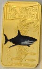 Somalia 2013 Goldplated Color Rectangular 25 shilling-Fauna-Great White Shark