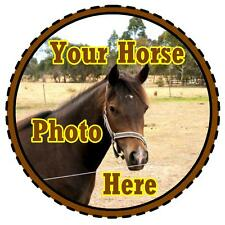 PERSONALISED  CAR TAX DISC HOLDER - OWN HORSES PHOTO/DESIGN - REUSABLE - NEW