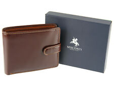 Visconti Mens Trifold RFID Safe Leather Wallet For Cards Notes & Coins - TR35