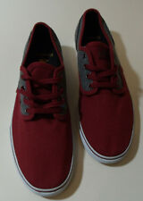 EMERICA UK 8 SHOES Trainers surf punk Red/ Grey Skateboard Skate NEW