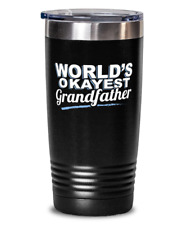 World's Okayest Grandfather Gift - Funny Gift for Grandfather - Humorous Present