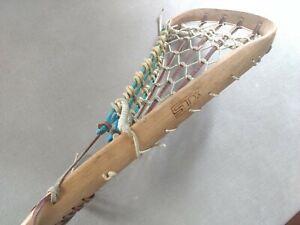 """Vintage STX Wood Lacrosse Stick Excellent Condition 44""""  Wooden LAX"""