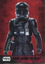 Star Wars Force Awakens S1 Purple Parallel Base Card #23 First Order TIE Pilot