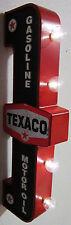 Texaco Gasoline-Motoroil Retro Flange Metal Can Sign