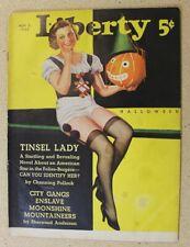 Liberty Nov 2, 1935 Halloween Cover Ray Cummings