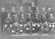 WALES (v NEW ZEALAND ALL BLACKS) 1905 RUGBY TEAM POSTCARD - NEW - POST FREE UK