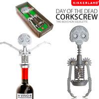 Dia De Muertos Dead Steel Skull Corkscrew Wine Bottle Opener Skeleton Kikkerland
