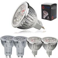 10/4x GU10 MR16 6W LED Bulbs High Power 50W Spotlight Warm Day White Light UK