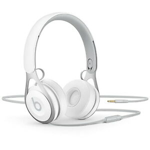 Beats EP Headphones Wired On Ear White Apple IOS Remote Talk 3.5mm Loud Music