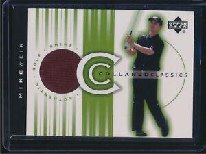 2003 Upper Deck Golf PGA Collared Classics Shirt Relic Mike Weir