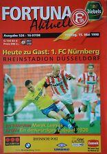 Programm 1997/98 Fortuna Düsseldorf - FC Nürnberg