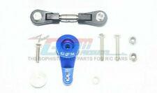 GPM Racing Traxxas XO-1 Blue Aluminum Servo Horn W/ Steel Link XO16025TS/2H-B