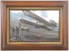 Franklin Mint Ltd Ed Aviation History Silverscene Wright Brothers Flyer I Ster
