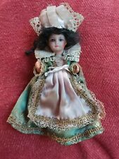 "SFBJ 5"" antique bisque Paris France UNIS 301 dollhouse doll"