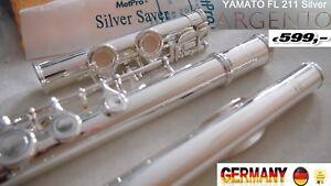 Flute Silver YAMA.  flûte traversière  Flauta travesera ARGENTO C-Foot