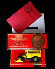 MATCHBOX YESTERYEAR Y16 1923 SCANIA POST SKI BUS - New with outer wrapper etc